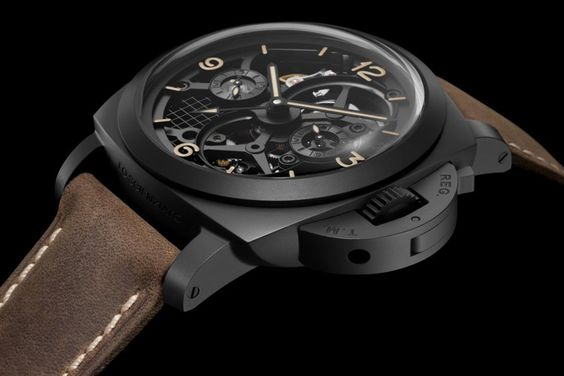 panerai radiomir tourbillon gmt ceramica skeleton 48mm lo scienziato (pam348)