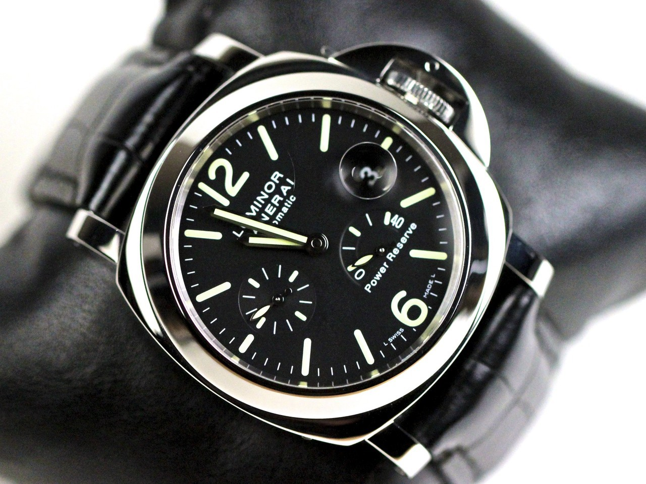 panerai luminor power reserve automatic acciaio timepiece