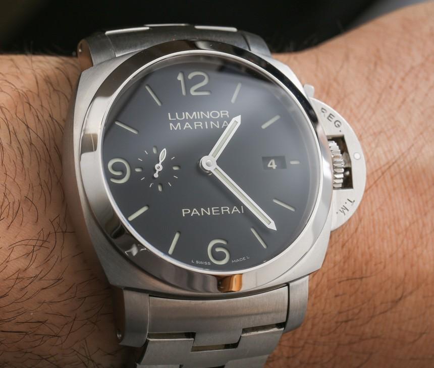 Panerai Luminor Marina 1950 3 Days Automatic PAM328 On Bracelet Watch Review Wrist Time Reviews