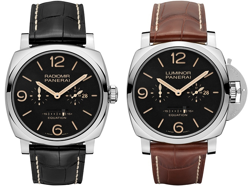 Two New Panerai Luminor 1950 3 Days Gmt 24h Replica Equation Of Time Special Edition Watches For SIHH 2015 Watch Releases