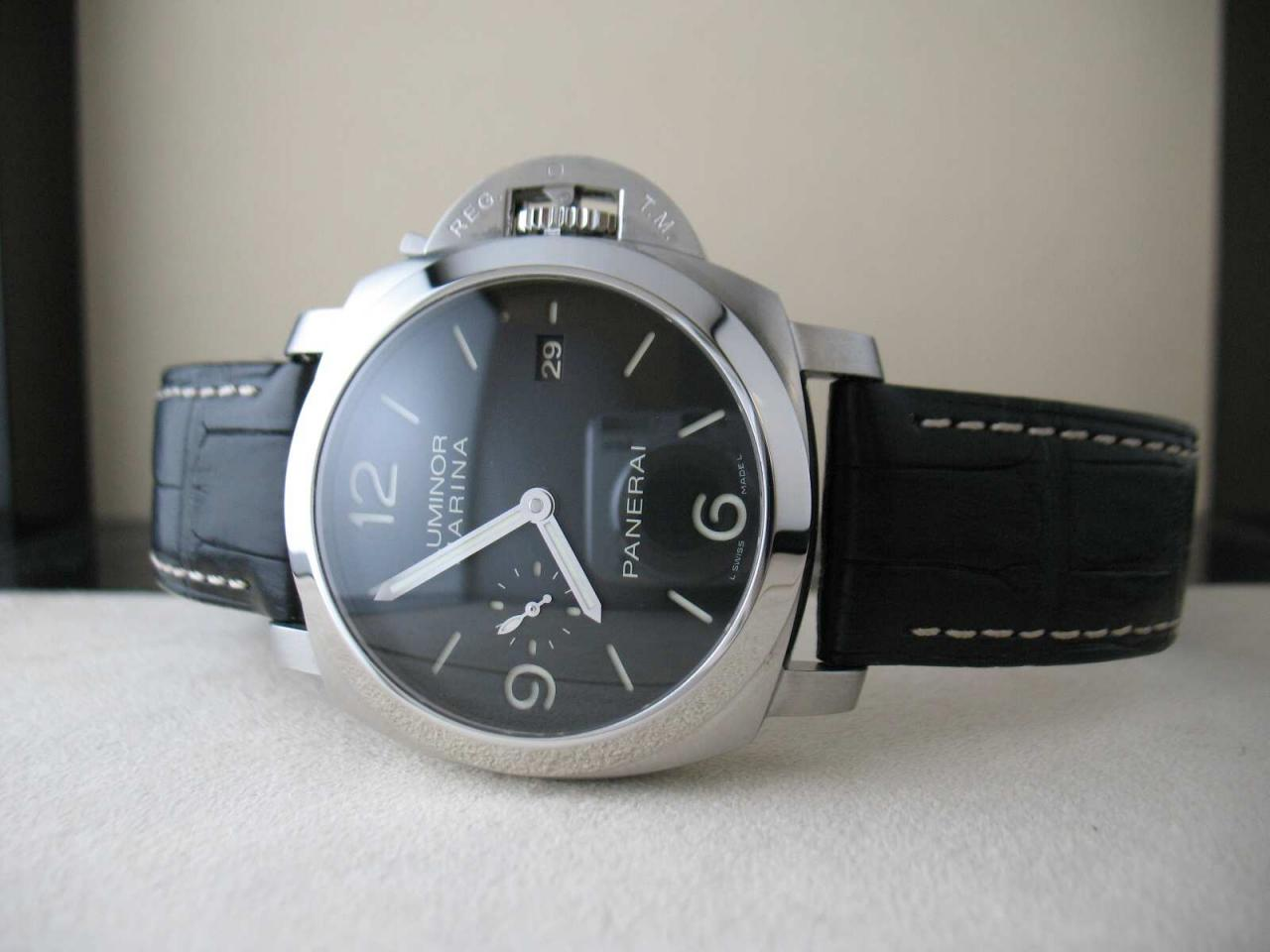 47mm steel case panerai luminor marina 1950 3 days automatic replica pam 312