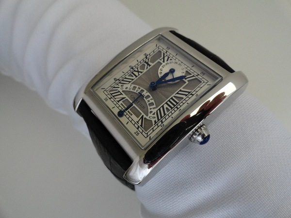 Grey Dial Steel Case Cartier Tank MC Replica Watch